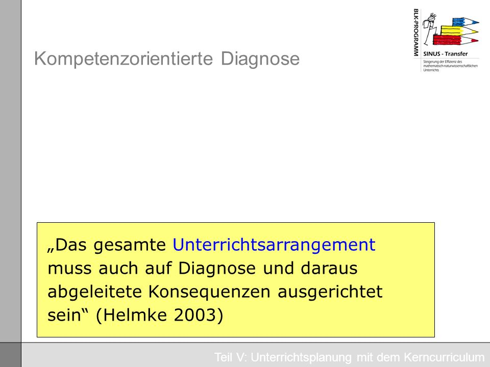 Kompetenzorientierte Diagnose