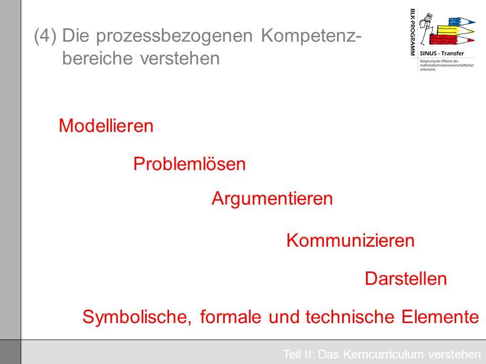 (4) Die prozessbezogenen Kompetenz-bereiche verstehen