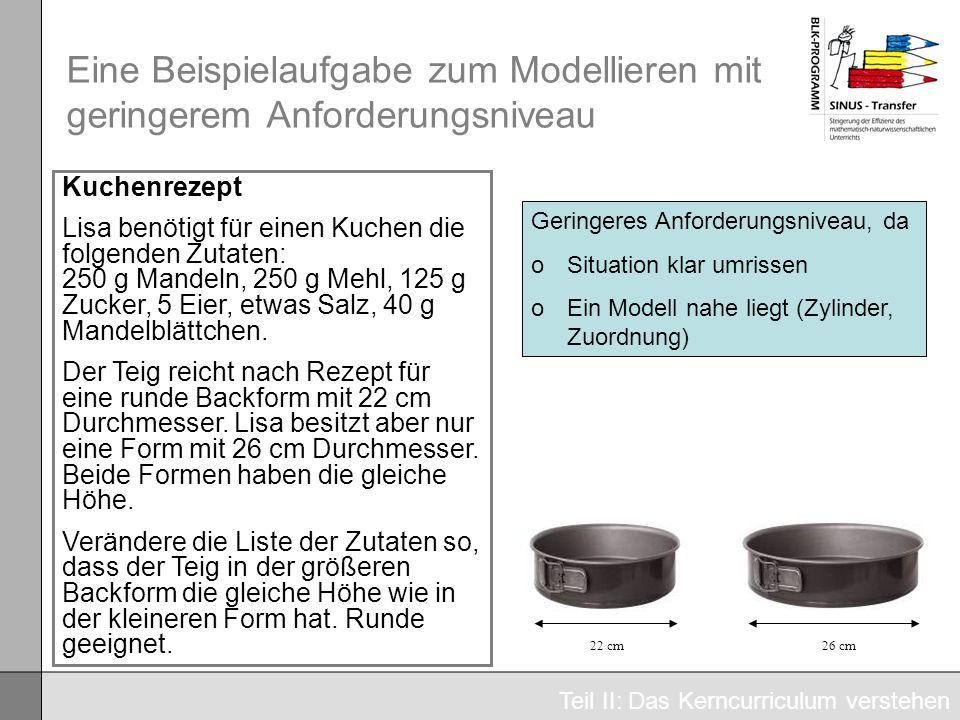 Eine Beispielaufgabe zum Modellieren mit geringerem Anforderungsniveau