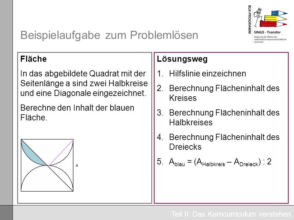 Beispielaufgabe zum Problemlösen