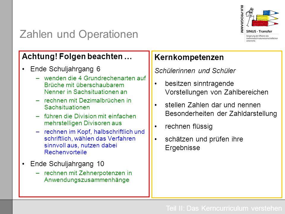 Zahlen und Operationen