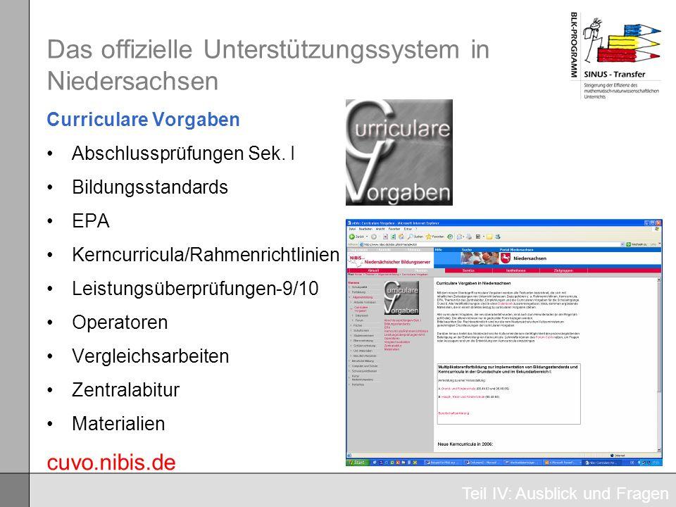 Das offizielle Unterstützungssystem in Niedersachsen
