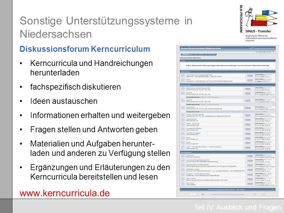 Sonstige Unterstützungssysteme in Niedersachsen