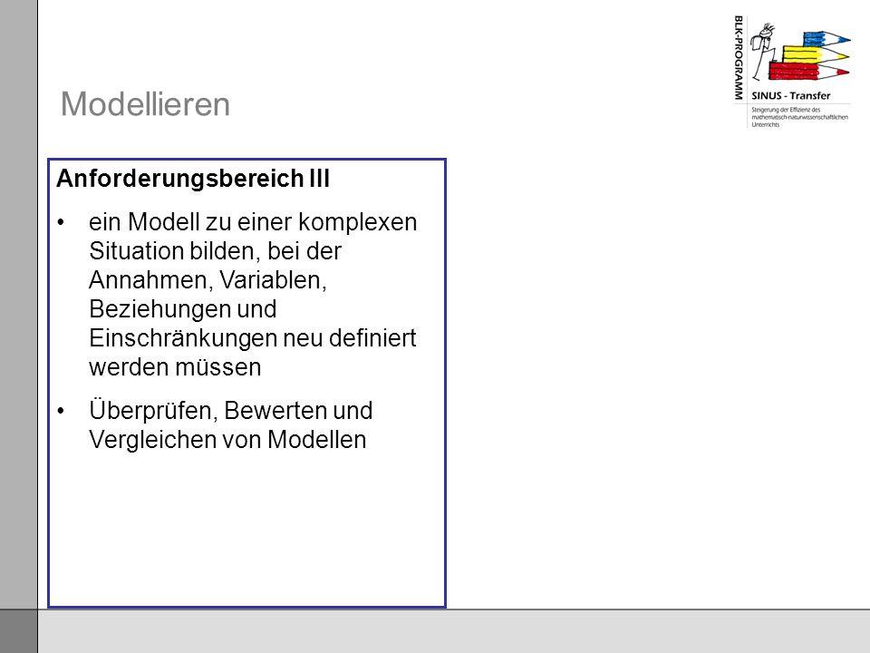 Modellieren Anforderungsbereich III