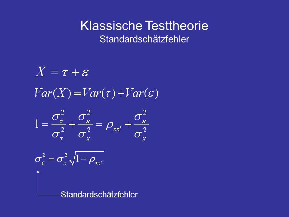 Klassische Testtheorie Standardschätzfehler
