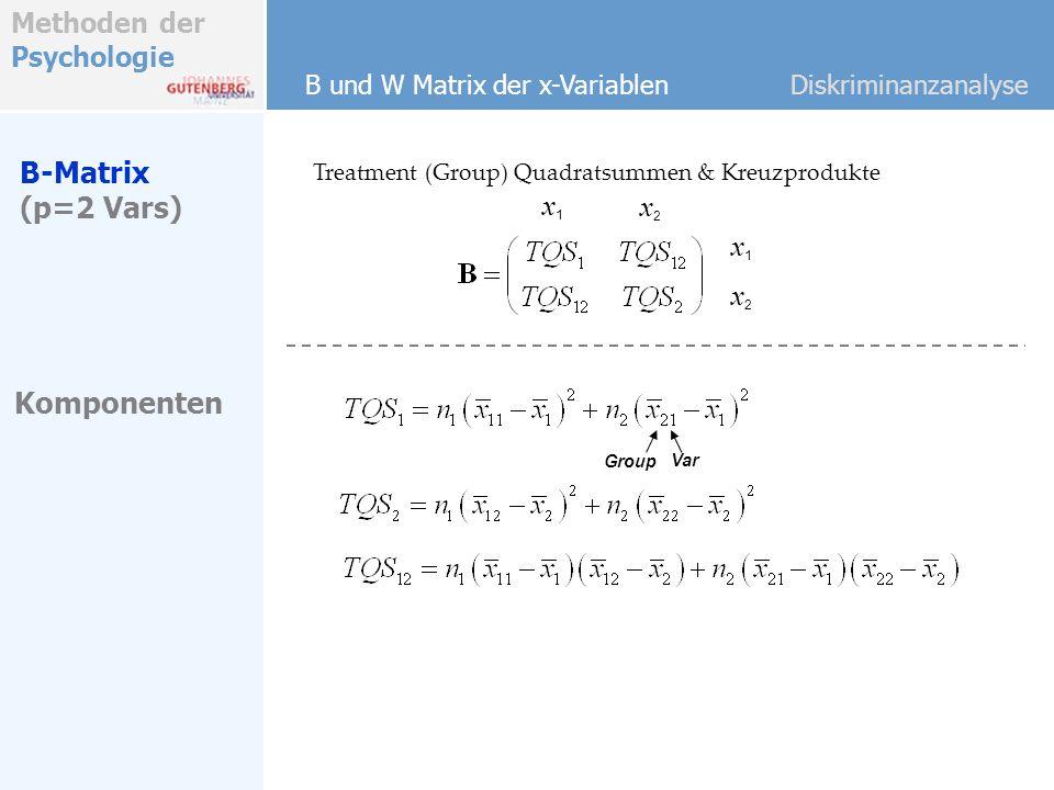 B-Matrix (p=2 Vars) x1 x2 x1 x2 Komponenten