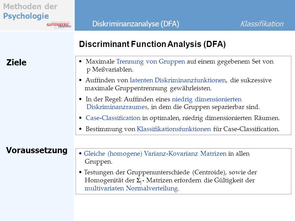 Discriminant Function Analysis (DFA)