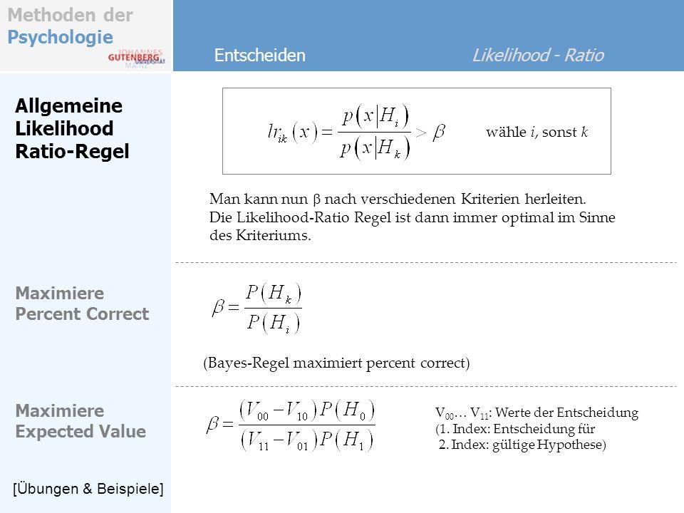 Allgemeine Likelihood Ratio-Regel