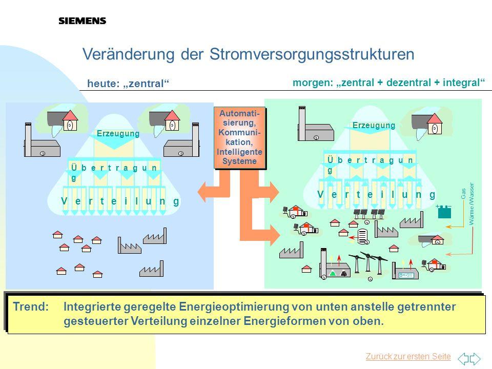 Veränderung der Stromversorgungsstrukturen