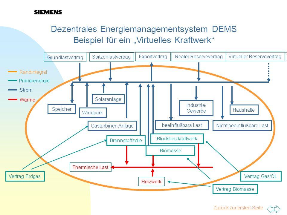 Dezentrales Energiemanagementsystem DEMS