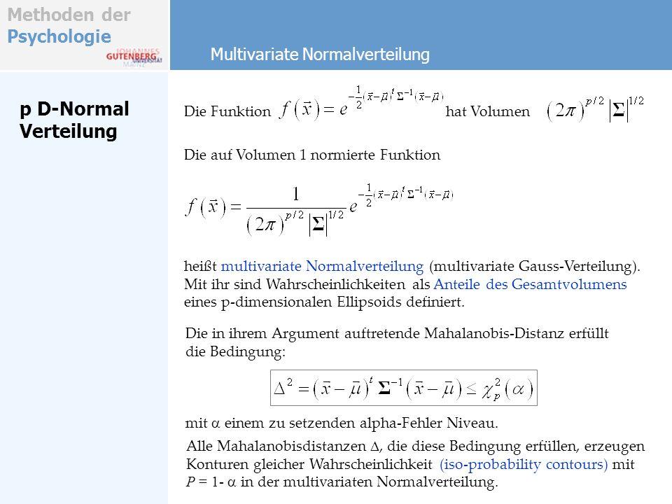 p D-Normal Verteilung Multivariate Normalverteilung Die Funktion