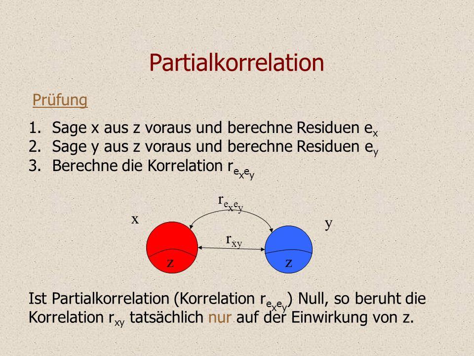 Partialkorrelation Prüfung