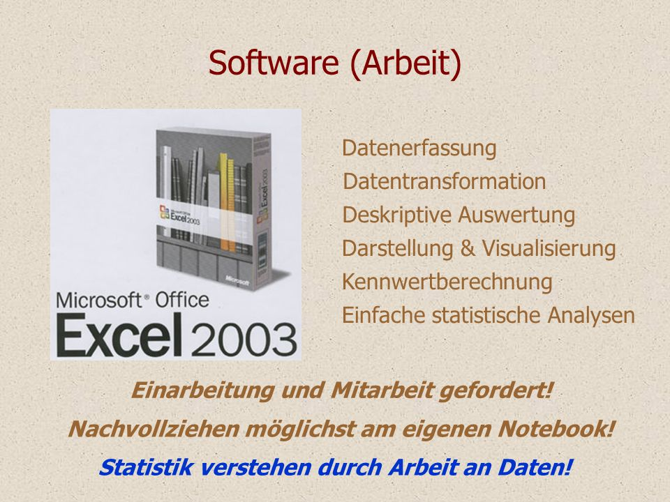 Software (Arbeit) Datenerfassung Datentransformation