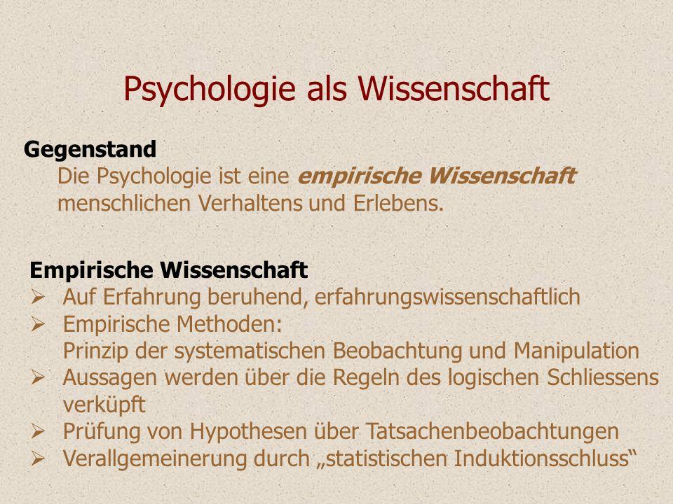 Psychologie als Wissenschaft