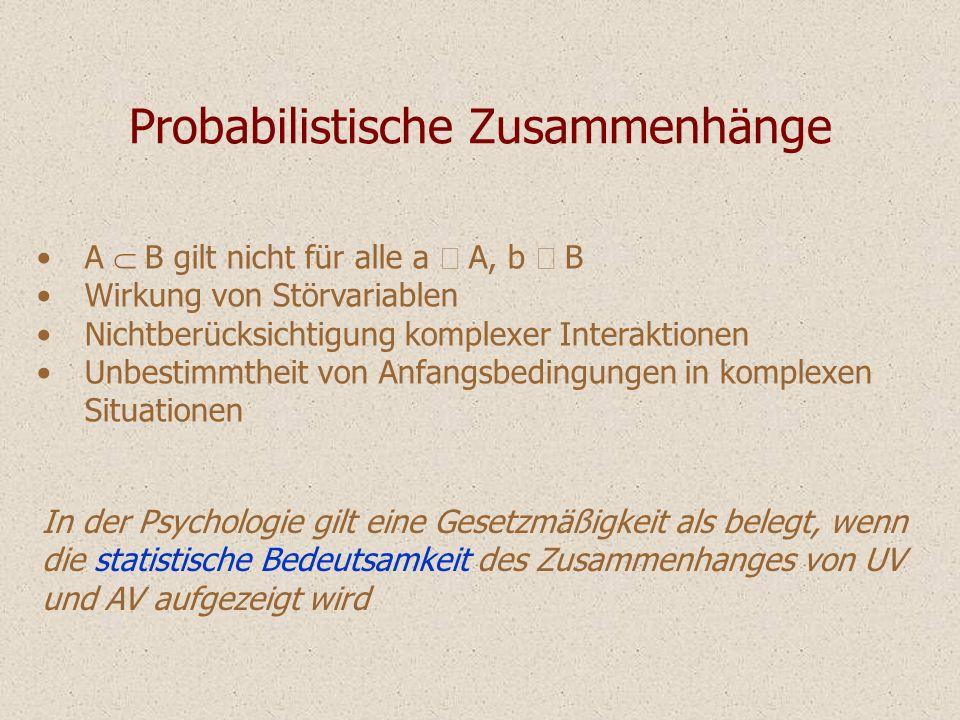 Probabilistische Zusammenhänge