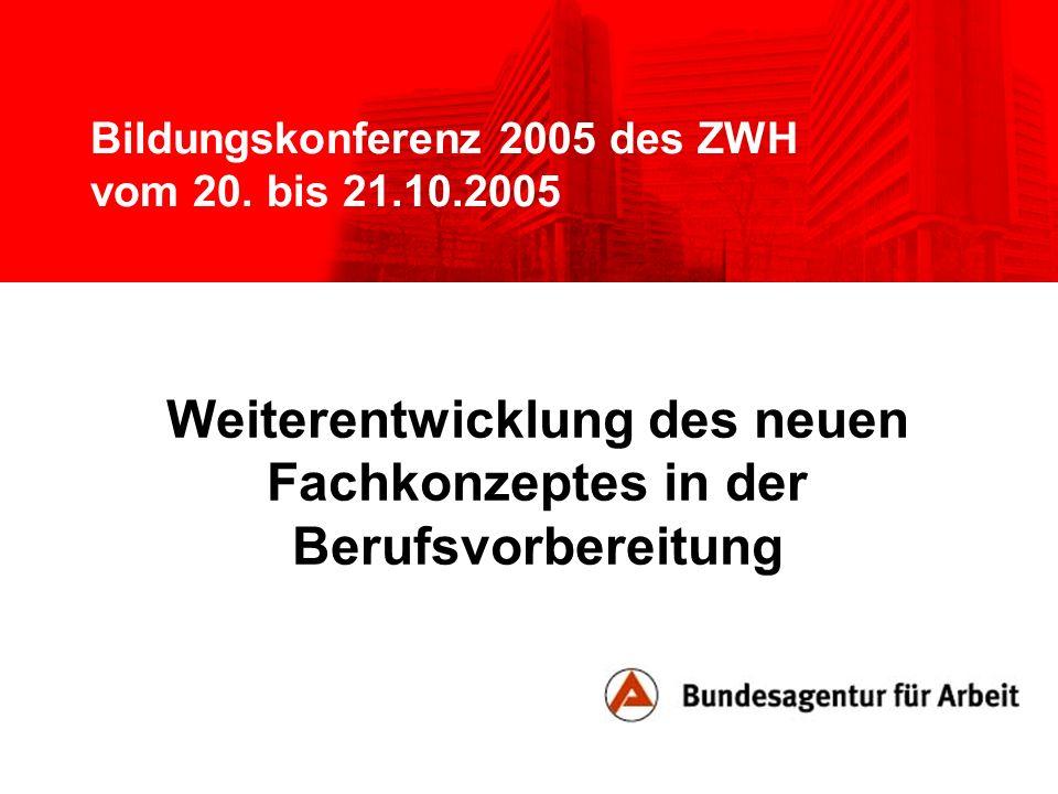 Bildungskonferenz 2005 des ZWH vom 20. bis 21.10.2005