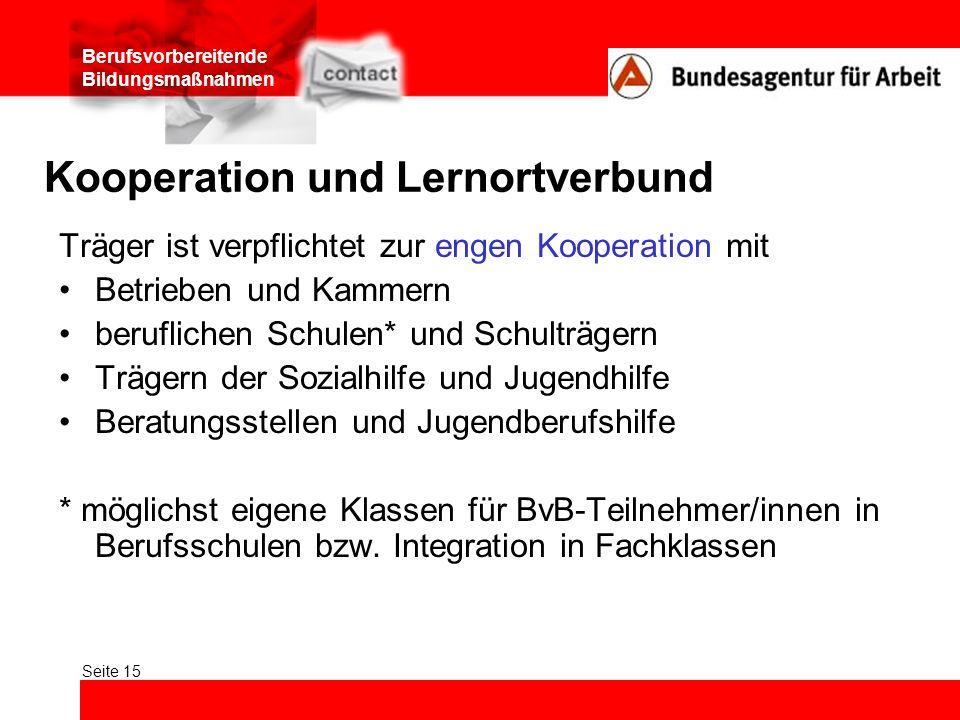 Kooperation und Lernortverbund