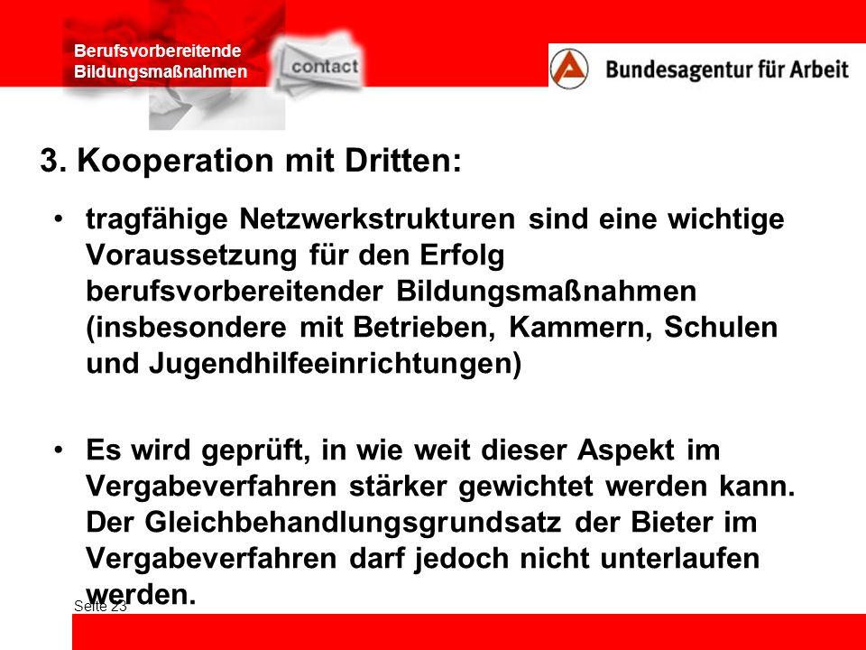 3. Kooperation mit Dritten: