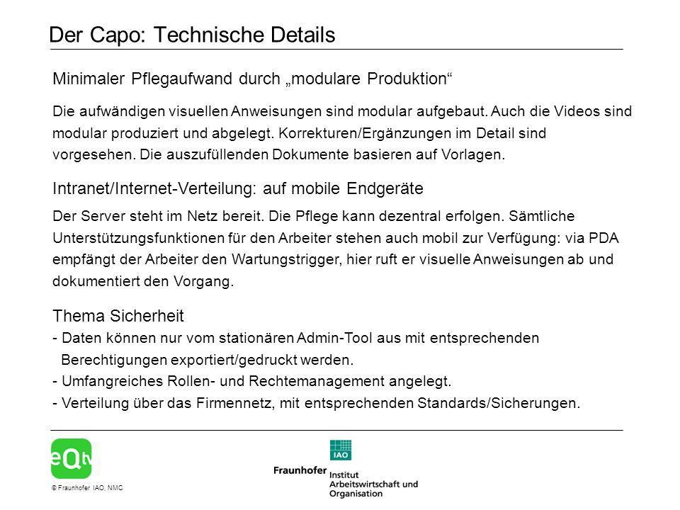 Der Capo: Technische Details