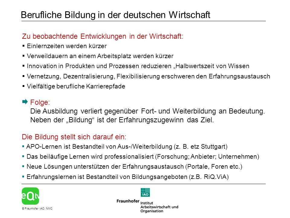 Berufliche Bildung in der deutschen Wirtschaft