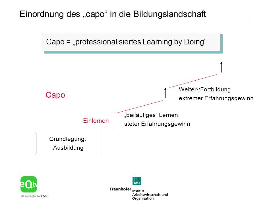 """Einordnung des """"capo in die Bildungslandschaft"""