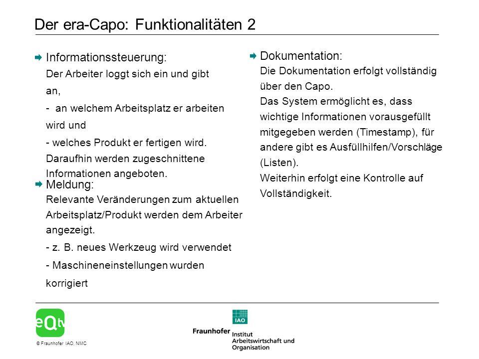 Der era-Capo: Funktionalitäten 2