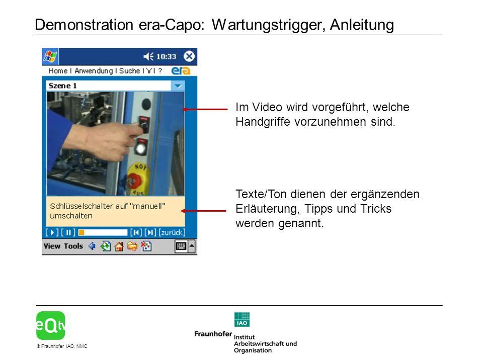 Demonstration era-Capo: Wartungstrigger, Anleitung