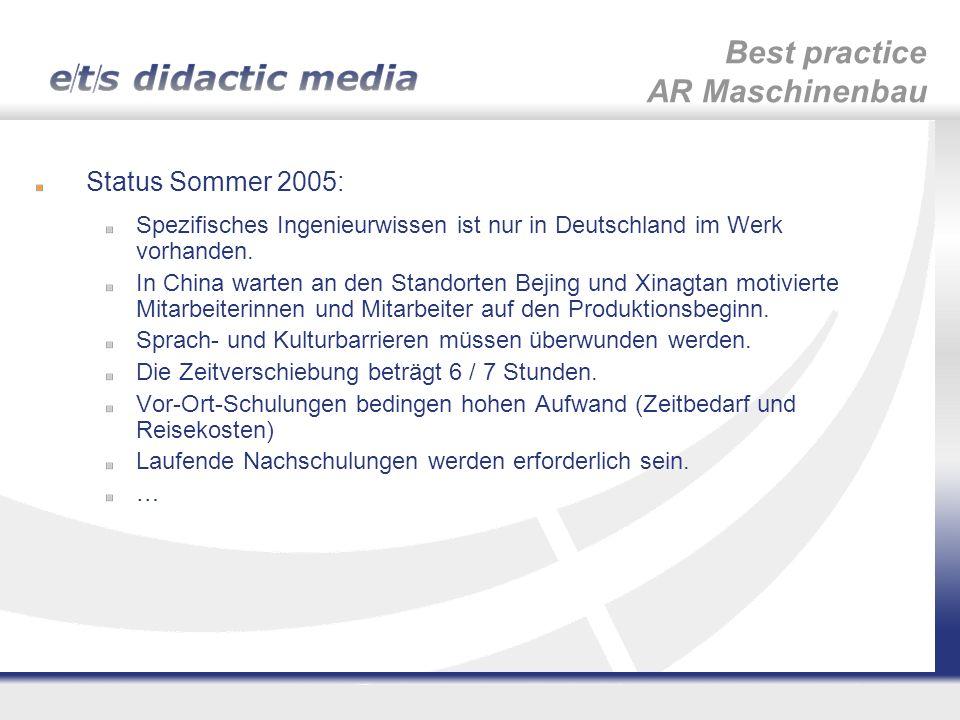 Best practice AR Maschinenbau