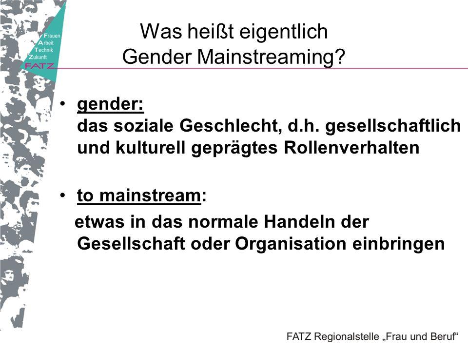 Was heißt eigentlich Gender Mainstreaming