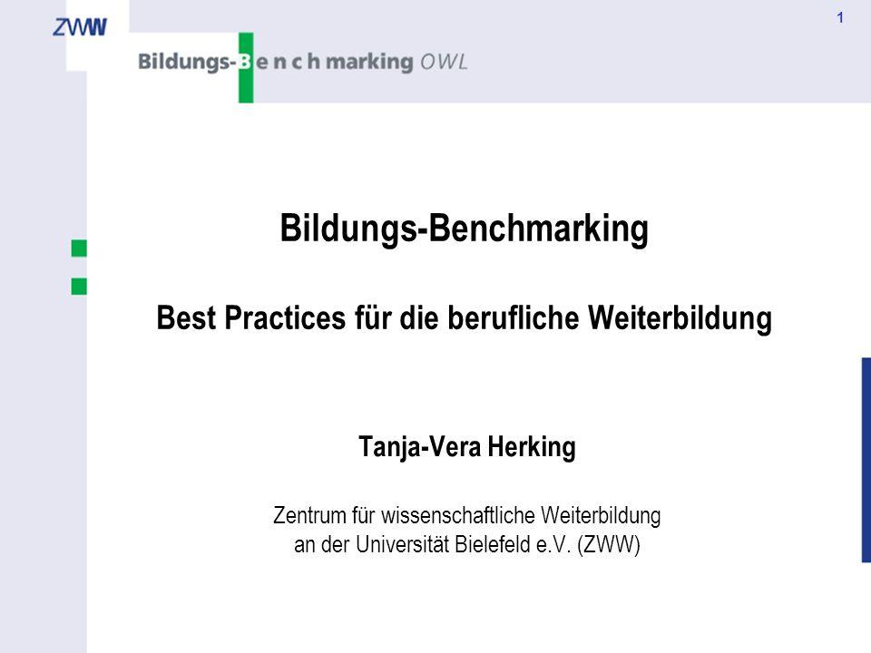 Bildungs-Benchmarking Best Practices für die berufliche Weiterbildung