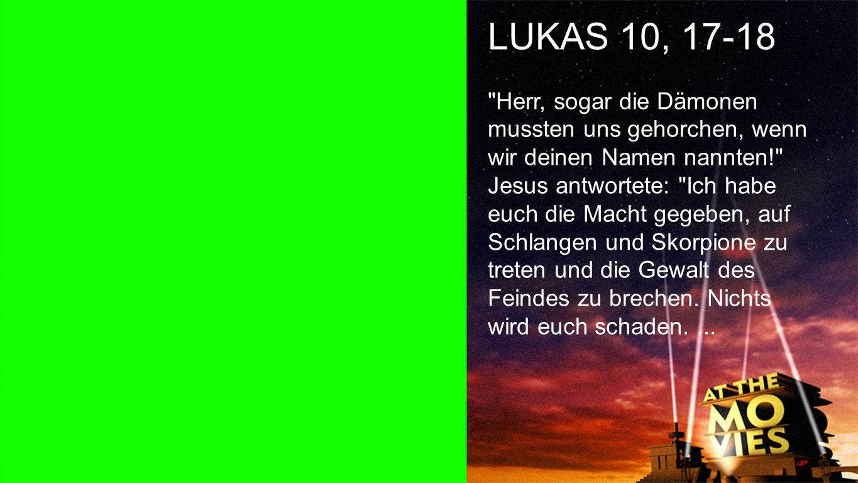 Lukas 10, 17-18 a LUKAS 10, 17-18.