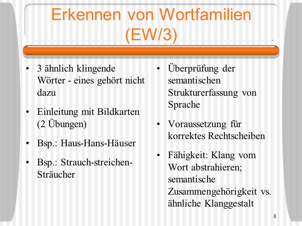 Erkennen von Wortfamilien (EW/3)