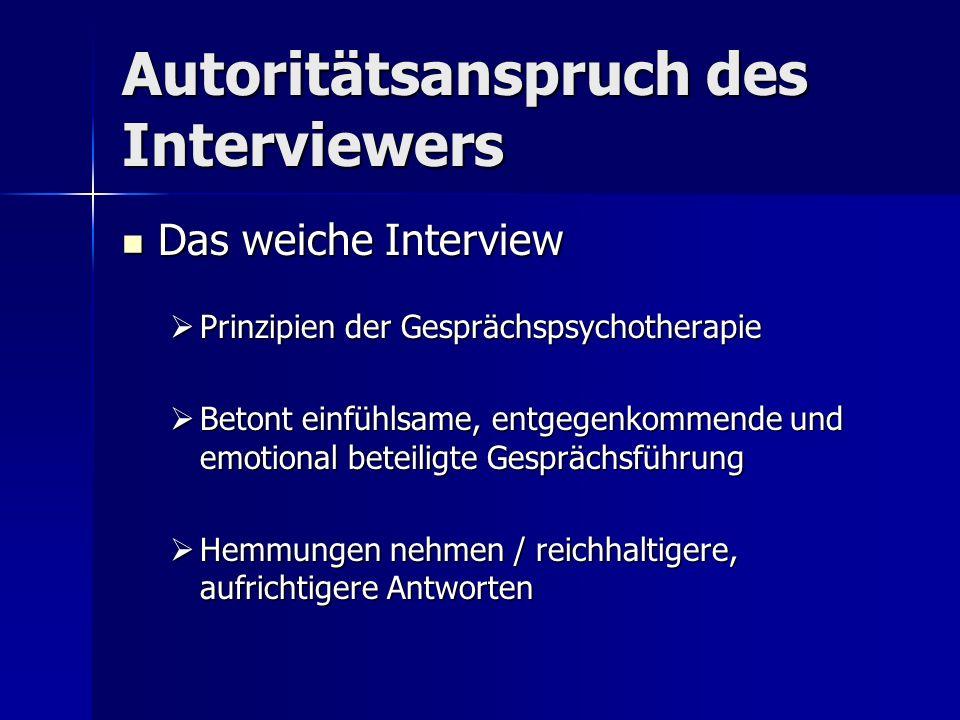 Autoritätsanspruch des Interviewers