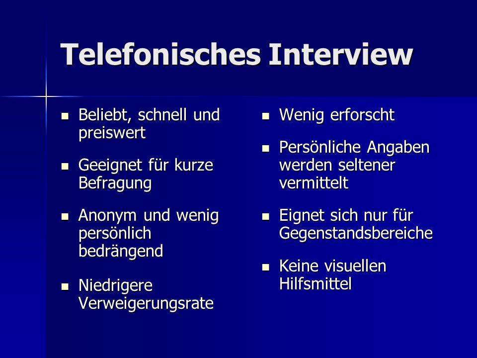 Telefonisches Interview