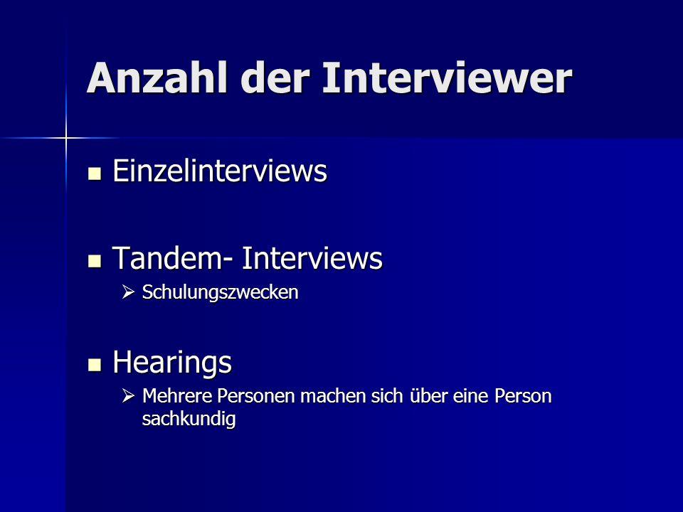 Anzahl der Interviewer