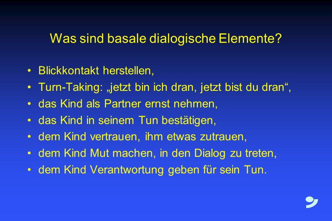 Was sind basale dialogische Elemente