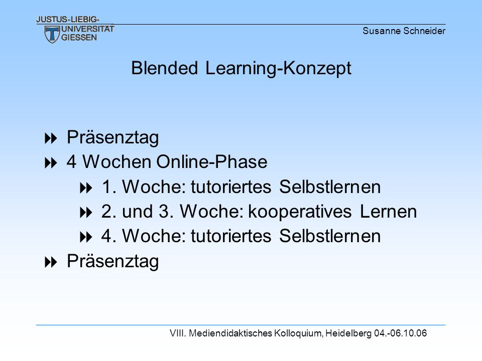 Blended Learning-Konzept