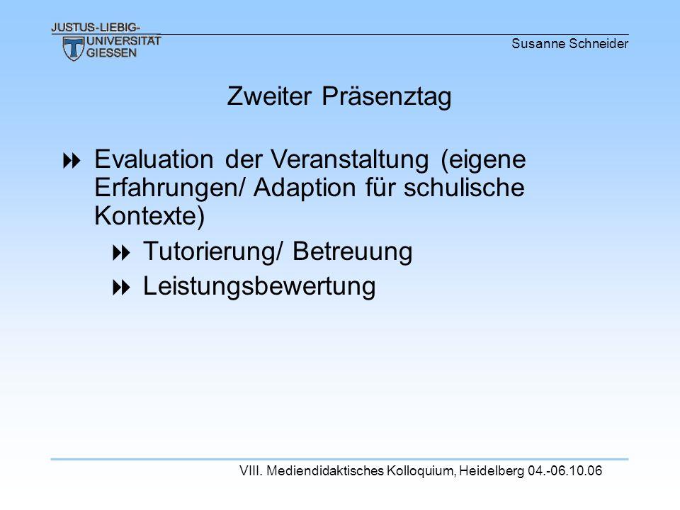 Tutorierung/ Betreuung Leistungsbewertung