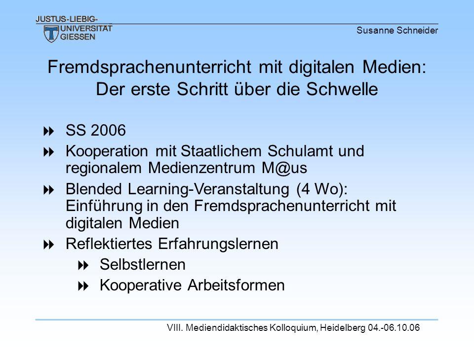 Fremdsprachenunterricht mit digitalen Medien: