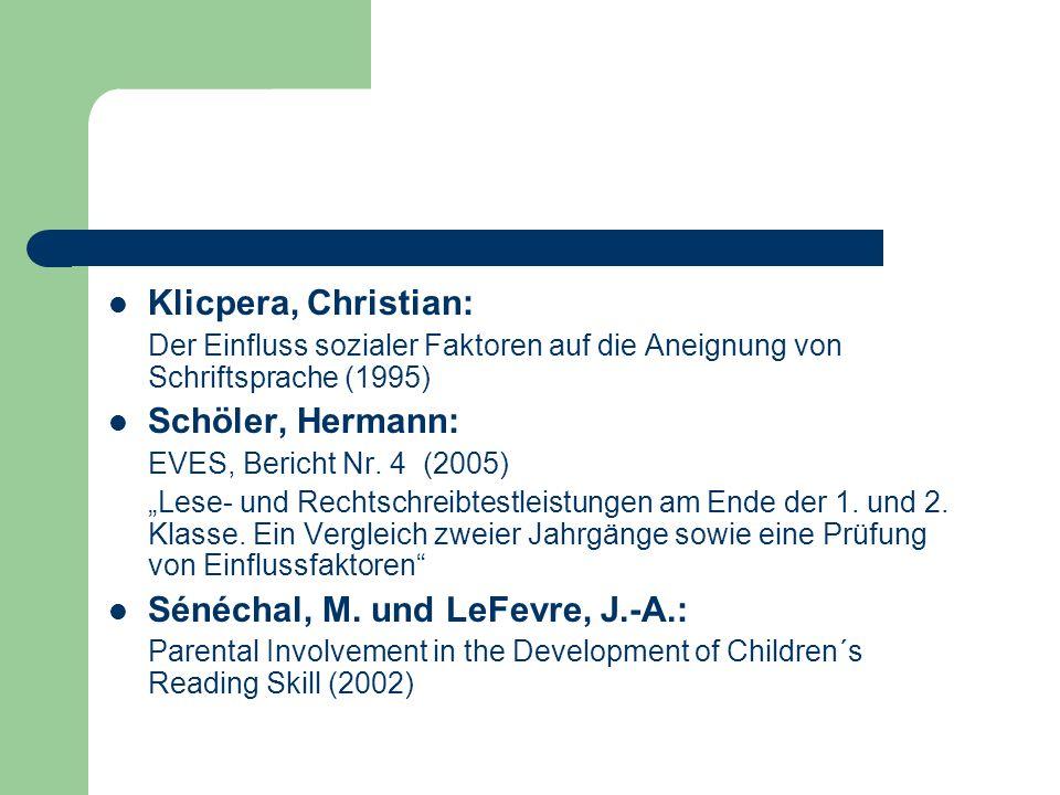 Sénéchal, M. und LeFevre, J.-A.: