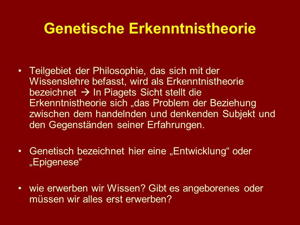 Genetische Erkenntnistheorie