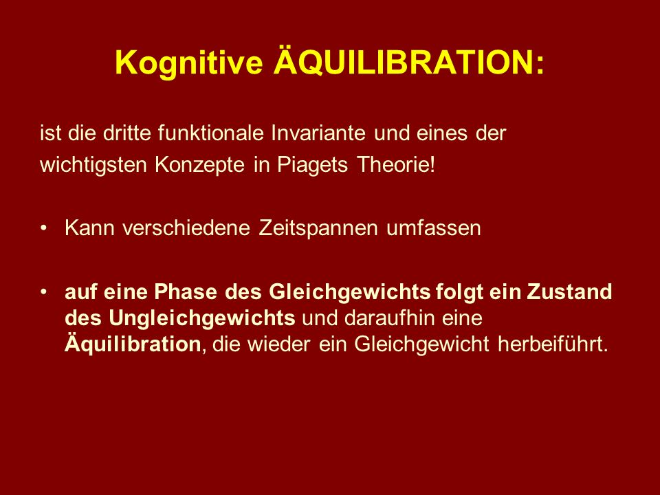 Kognitive ÄQUILIBRATION: