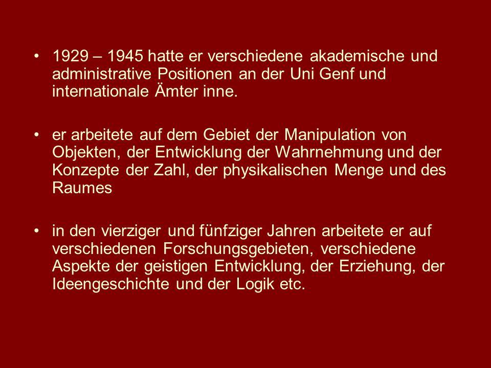 1929 – 1945 hatte er verschiedene akademische und administrative Positionen an der Uni Genf und internationale Ämter inne.