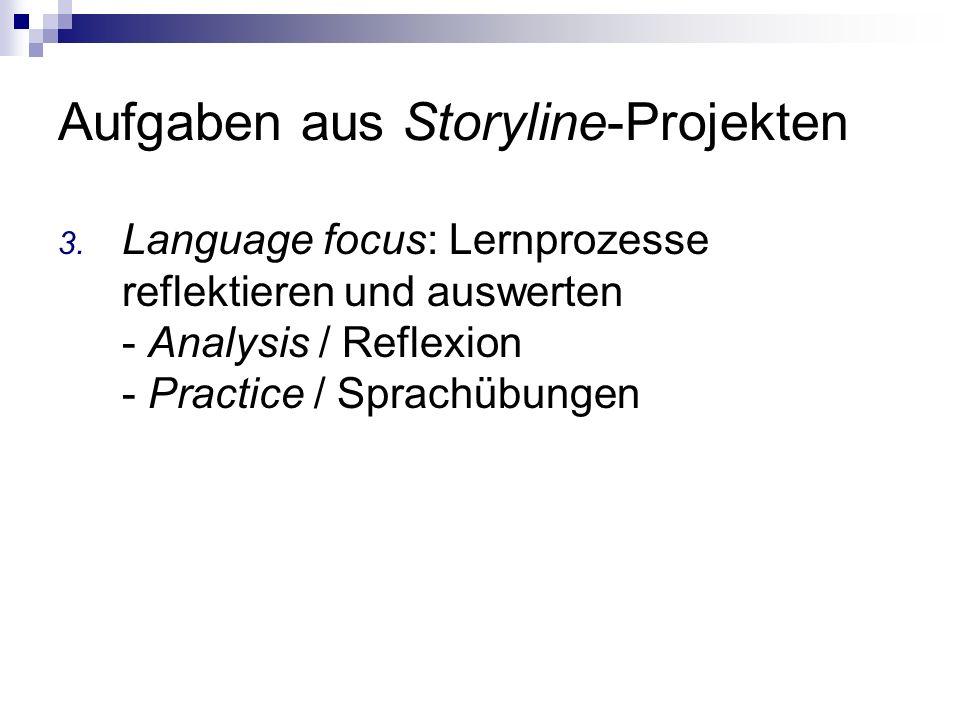 Aufgaben aus Storyline-Projekten