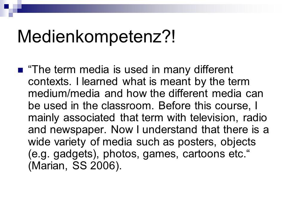 Medienkompetenz !