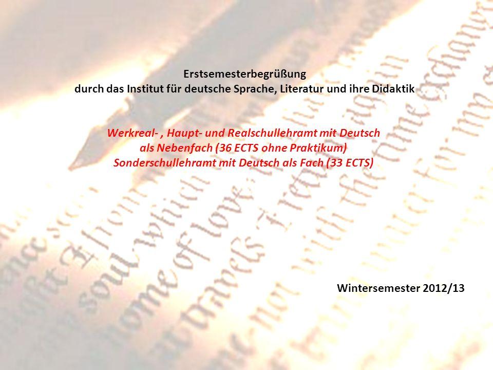 Werkreal- , Haupt- und Realschullehramt mit Deutsch