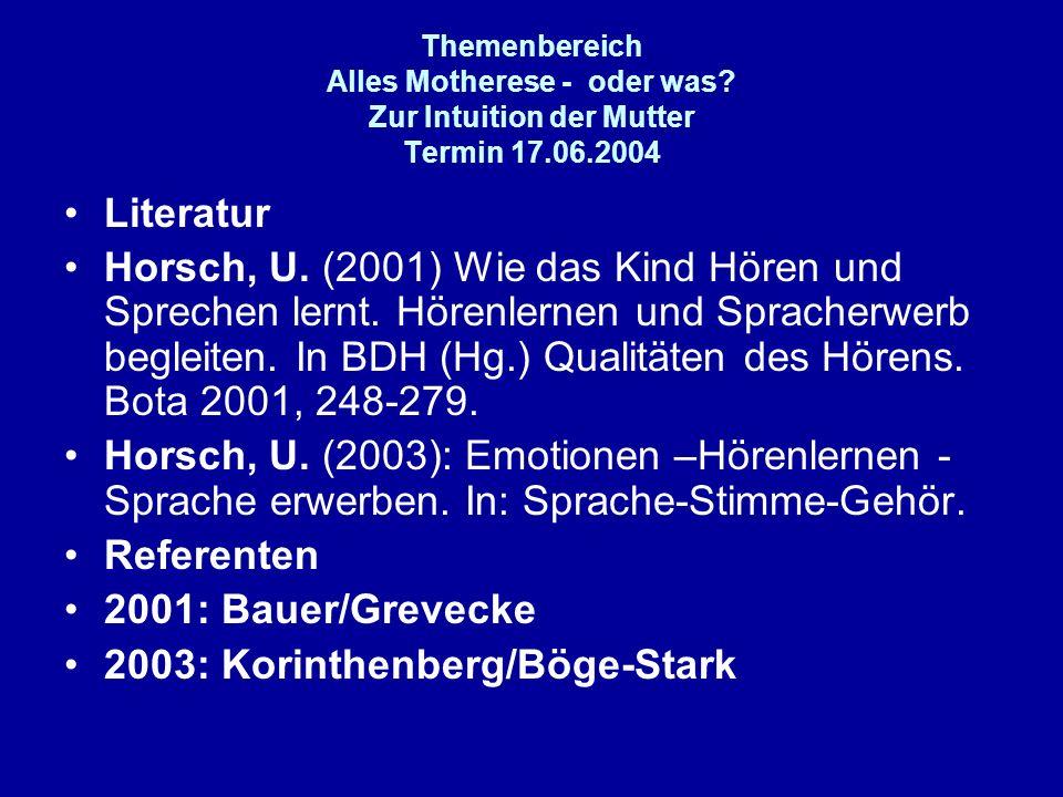 2003: Korinthenberg/Böge-Stark