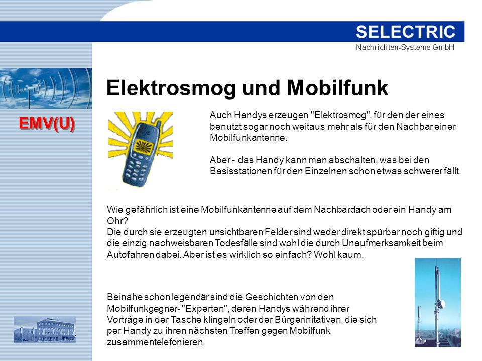 Elektrosmog und Mobilfunk