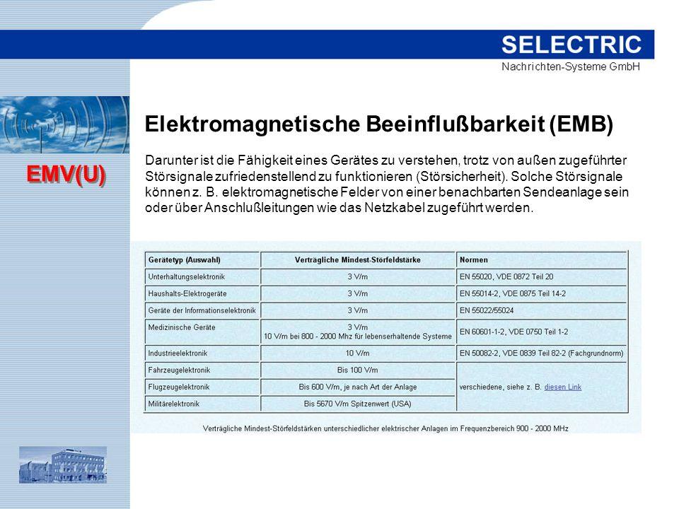 Elektromagnetische Beeinflußbarkeit (EMB)