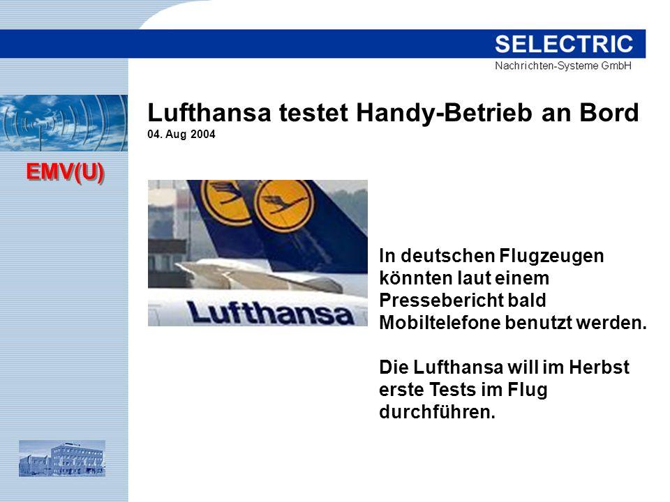 Lufthansa testet Handy-Betrieb an Bord